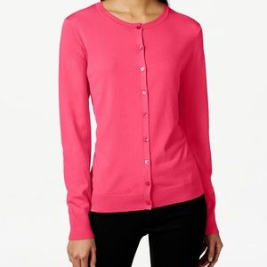 August Silk Pink Cardigan